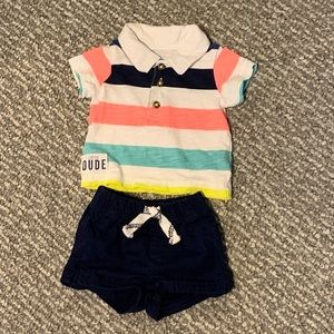 🎉HP🎉 Striped Polo & Shorts Outfit